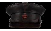 Фуражка/07 Винтаж со звездой чёрно-коричневая