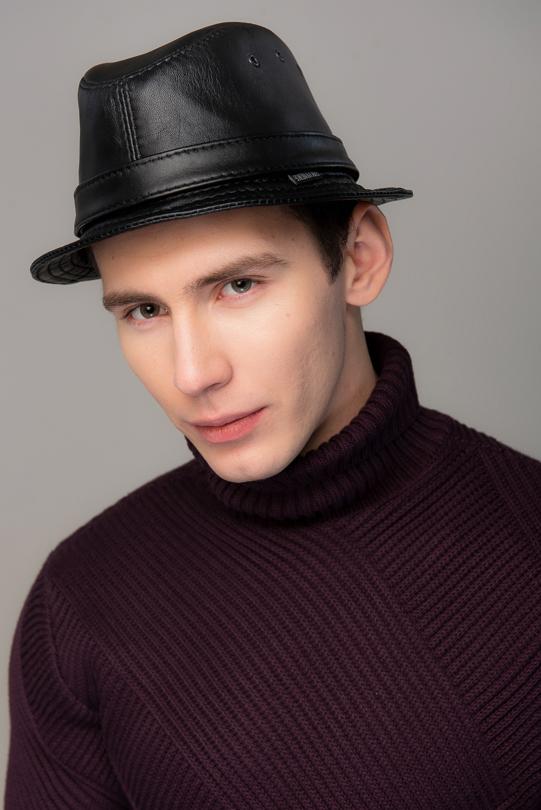 Шляпа-унисекс/32 Наппа чёрная