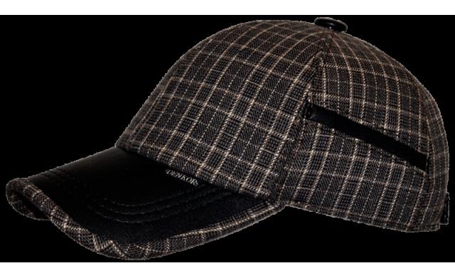 Бейсболка/17 Jacket-5502 серо-коричневая